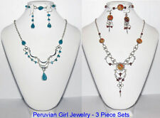 30 NECKLACES EARRINGS BRACELETS PERUVIAN JEWELRY SETS PERU ARTISAN HANDMADE
