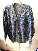 Missoni Cardigan Sweater Gumper Maglione Pullover Multicolor 90s News Tg 50