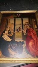 Antique MEDICI SOCIETY Weyden - St. Luke & The Virgin Madonna Jesus Beautiful