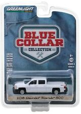 1:64 GreenLight *BLUE COLLAR 4* WHITE 2018 Chevrolet Silverado 1500 Pickup *NIP*