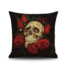 Kissenbezug Skulls Totenkopf 45 x 45 cm Rockabilly Skull Bones Gothic Punk NEU