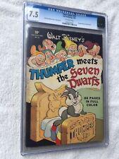 Four Color #19 Thumper Meets the Seven Dwarfs CGC 7.5 1942 & FREE Reader Copy