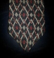 Stafford Silk Tie Reddish Brown Tan Charcoal Diamond Geometric NIB t2103