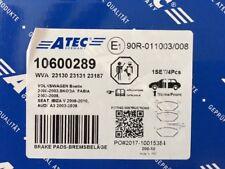 ATec 10600289 Bremsbelagsatz Vorne Beetle, A3, Ibiza, Fabia NEU/OVP