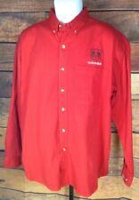 Dodge Ram~mens L~Button Down L/S Shirt Red Sierra Pacific