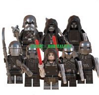 8Pcs lego Minifigures MOC The Knights of Ren Skywalker Star Wars & Weapons Toys