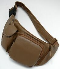 MARSUPIO PELLE UNISEX BEIGE BORSELLO BORSA CROSSBODY BUMBAG LEATHER BAG