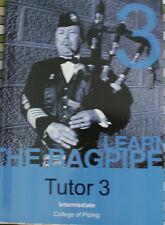 CORNAMUSA SCOZZESE TUTOR INTERMEDIO LIBRO 3 GRATIS CD ROM COLLEGE OF PIPING PIPE