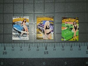 1/10 Scale Lowrider Magazines set #1 - 3 Issues - perfect for RedCat  RC Car