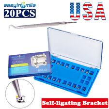 3345hooks Dental Passive Self Ligating Brace Orthodontic Metal Bracket Rothmbt