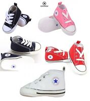 Unisex Converse All Star First Star for Infant Baby Crib Trainer Soft Sole Shoes