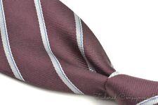 """TURNBULL & ASSER Purple Twill Striped 100% Silk Mens Luxury Tie - 3.50"""""""