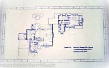 """Bewitched TV Show House Home 1164 Morning Glory Circle Blueprints 24"""" X 36"""""""
