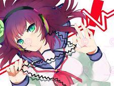 Manga Anime Angel Beats 2 Headphones Girl Canvas Art Print