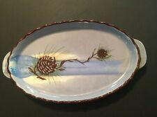 Loveland Colorado Pinecone Pottery Oval Tray Dish 10