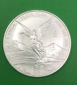 2021 COIN SILVER LIBERTAD MEXICO MONEDA PLATA ONZA 999 BULLION OUNCE TROY ESCASA