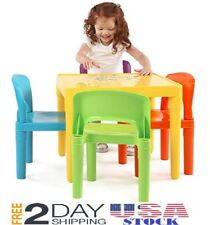 Kids Table and Chairs Play Set Toddler Child Toy Activity Furniture In-Outdoor.