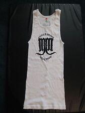 Ribbed Tank T-Shirt Dress, Mischief Mayhem Clothing Co, White , Size M