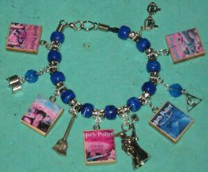 Harry Potter  Beaded Charm Bracelet-Blue & Silver