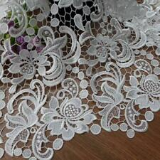 White Venise Lace Fabric Chic Guipure Lace Fabric Wedding Dress Floral Fabric