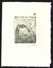 39)Nr.002-EXLIBRIS- Jiri Vlach, signiert,  C3 - Radierung