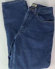 Womens LL Bean Flannel Lined Jeans Sz 10 Mid Rise Straight Leg Fleece Denim  QQ