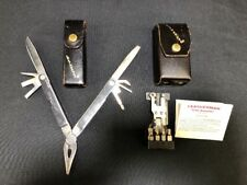 Vintage Leatherman Multi-Tool With Tool Adapter Leather Case 1997 EUC Q15