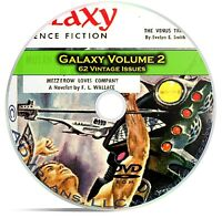 Galaxy, Vol 2, 62 Classic Pulp Magazine, Golden Age Science Fiction DVD CD C56