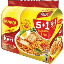 Maggi Curry Instant Noodle from Malaysia (1 Pack 5+1 Pcs )