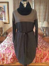 $2K+ LUXE CHIC One of a KIND Loro Piana BABY cashmere taupe/grey dress sweater