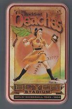 Rockford Peaches SIGNED Tin  - Dottie Key/ Bobbie Thompson
