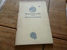 MG MAGNET MARK 111 Drivers Handbook Owners Instruction Manual   AKD 1028 classic