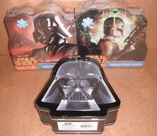 2 Star Wars Classic Puzzle Tins & Star Wars Darth Vader Shaped Tin Tote