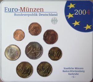 ALX2004G.1 - COFFRET BU ALLEMAGNE - 2004 G - 1 cent à 2 euros