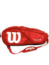 Wilson Team 3 Racket Zip Up Tennis Bag Red and White