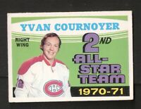 1971-72 OPC O-Pee-Chee YVAN COURNOYER #260 VG-EX No Creases ! Montreal Canadiens
