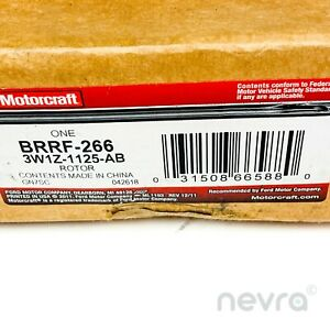 Genuine Ford 3W1Z-1125-AB Motorcraft BRRF-266 Front Disc Brake Rotor Assembly