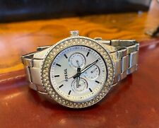Women's 38mm Fossil Watch PR5414, WR 5ATM,All Stainless with Crystal Accents