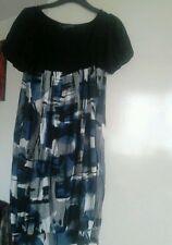 Petite Viscose Thigh-Length Casual Dresses for Women