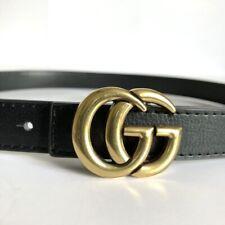 GG Double Logo Leather Belt