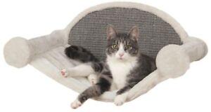 TRIXIE Wall-Mounted Cat Tree Lounging Set - 2-Steps, Condo, Hammock Ultra-Plush