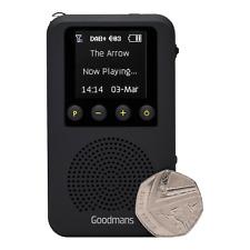 Goodmans GDPRDAB Pocket DAB, Portable Digital Radio, Built-in Speaker,