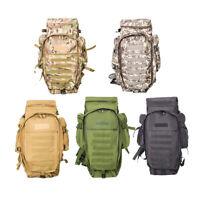 60L im Freien Rucksack Pack Rucksack Taktisch Tasche fuer die Jagd Schiesse T3Y7