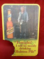 Vintage Holsten Pils Lager Pub Beer Coaster West Germany