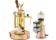 Elektra Micro Casa & Grinder MS Copper Brass Manual Lever Espresso Set 220V