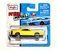 '69 DODGE CHARGER R/T Maisto Fresh Metal 1:64 Scale Die-cast Yellow Car - NEW