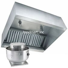 5ft Concession Trailer Grease Exhaust Vent Hood Package Fan and Curb Food Truck