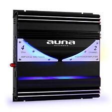 Auna AMP-CH02 HIFI 2 canales 1400W Coche Amplificador indirecta luz LED azul