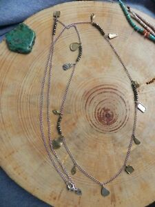 """Silpada~N3026 Pedal to the Metal Brass, Sterling Silver & Hematite Necklace 36"""""""