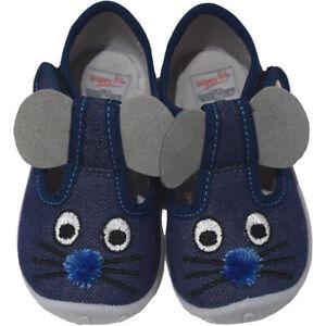 Superfit Hausschuhe 609249-80 Spotty Blau Maus Jungen Schuhe NEU|OVP